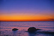 Lake Winnipeg at dawn<br /> Hecla Provincial Park<br /> Manitoba<br /> Canada