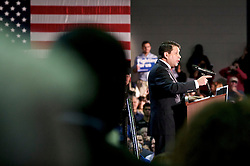 Gloucester township mayor Dave Mayer introduced presumable democratic presidential candidate Hillary Clinton during a May 11, 2016 campaign stop at Camden County College, in Gloucester Township, NJ.