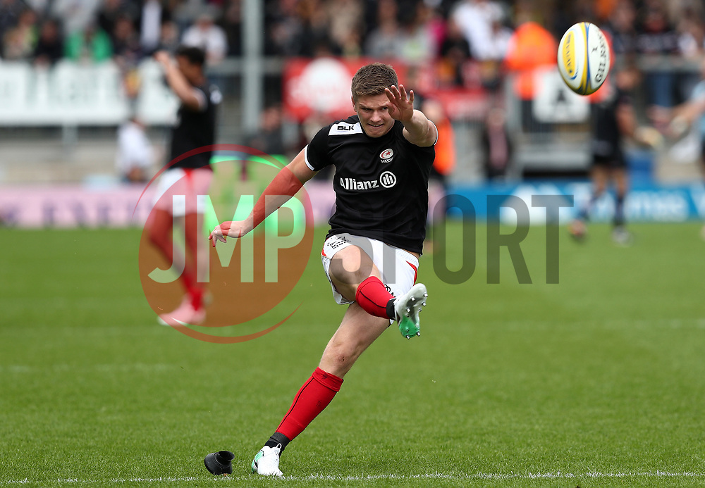 Owen Farrell of Saracens - Mandatory by-line: Gary Day/JMP - 20/05/2017 - RUGBY - Sandy Park Stadium - Exeter, England - Exeter Chiefs v Saracens - Aviva Premiership Semi-Final