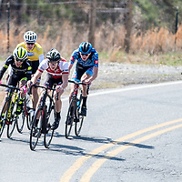 WOODSTOCK, VA - MAR 5: L-R: Gabriel Mendez of Holowesko-Citadel, Sean Quinn of LUX, Ben Wright, and Matteo Jorgenson, head to the finish line after attacks on the penultimate climb of the race,  the road race and final stage of the Tour of the Southern Highlands stage race on Sunday, Mar. 5, 2017 in Woodstock, Ga. This move separated him and three other riders from the remaining racers, and garnered him a 3rd place overall finish against a stacked field of the top talent in the country. (Photo by Jay Westcott/The News & Advance)
