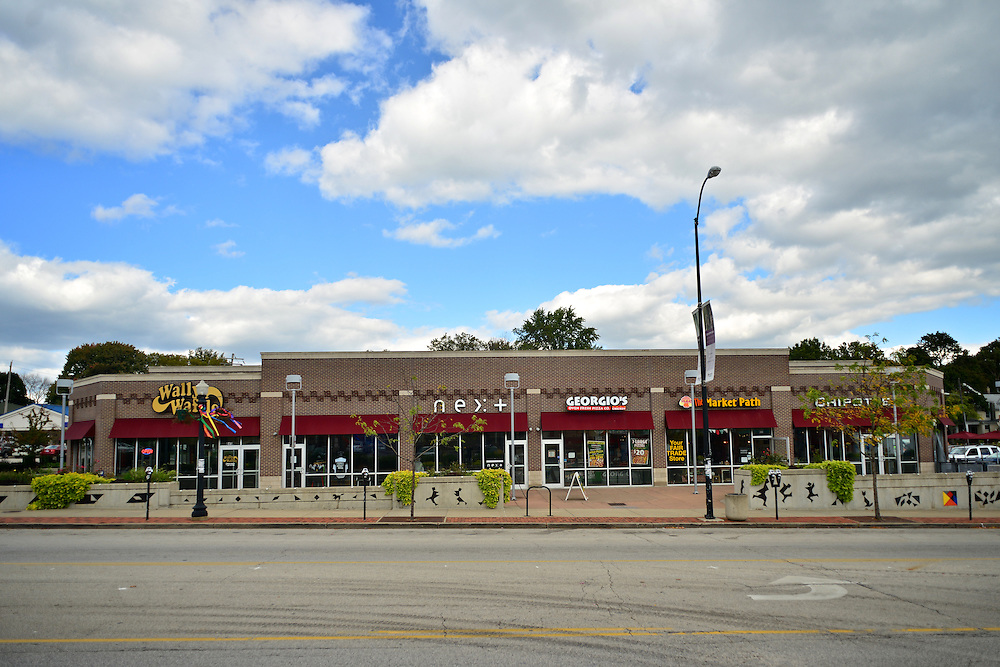 Shopping plaza in Highland Square.