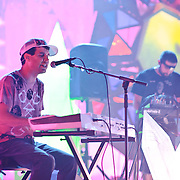 WASHINGTON, DC - July 9th, 2011 - Avery Tare and Geologist of Animal Collective perform at Merriweather Post Pavilion in Columbia, MD. The band named their eighth studio album after the venue.  (Photo by Kyle Gustafson/For The Washington Post)