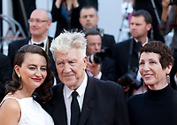 Emily Stofle and director David Lynch and and producer Sabrina S. Sutherland arriving to the Closing Ceremony and awards at the 70th Cannes Film Festival Sunday 28th May 2017, Cannes, France. Photo credit: Doreen Kennedy