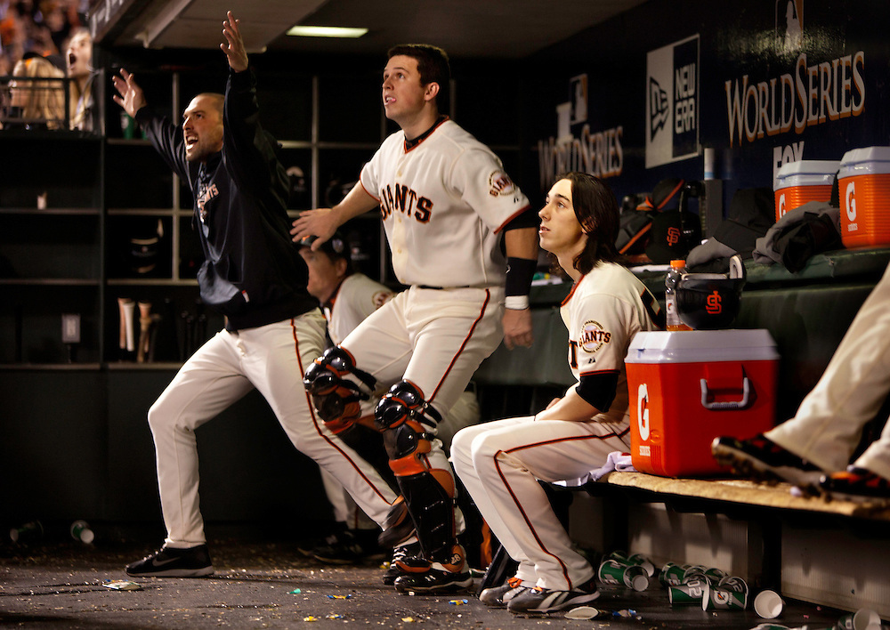 San Francisco Giants and the Texas Rangers  play Game 1 of the World Series at AT&T Park.