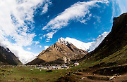 General view over Kyanjin Gompa Village, Langtang Valley, Nepal, on the 30th May 2009<br /> <br /> The village of Kyanjin Gompa was partially destroyed by the earthquake that struck Nepal at 11.56am on the 25th April 2015. <br /> <br /> PHOTOGRAPH BY AND COPYRIGHT OF SIMON DE TREY-WHITE<br /> <br /> + 91 98103 99809<br /> email: simon@simondetreywhite.com<br /> photographer in delhi