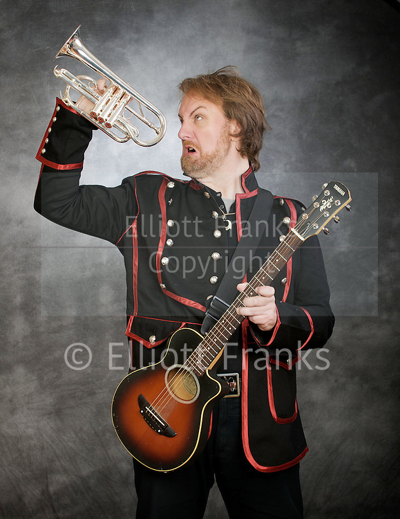 Mitch Benn <br /> Portrait session <br /> 13th April 2011<br /> Mitch Benn is a British musician and stand-up comedian known for his humorous songs performed on BBC radio. He is a regular contributor to BBC Radio 4's satirical programme The Now Show.
