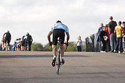 Road racing at the popular and now defunct Eastway cycle circuit in Stratford , east London.
