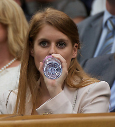 28.06.2011, Wimbledon, London, GBR, WTA Tour, Wimbledon Tennis Championships, im Bild Beatrice Elizabeth Mary Windsor, Princess Beatrice of York watches from the Royal Box on Centre Court during the Ladies' Singles Quarter-Final on day eight of the Wimbledon Lawn Tennis Championships at the All England Lawn Tennis and Croquet Club. EXPA Pictures © 2011, PhotoCredit: EXPA/ Propaganda/ David Rawcliffe +++++ ATTENTION - OUT OF ENGLAND/UK +++++ // SPORTIDA PHOTO AGENCY