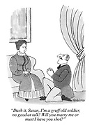 """""""Dash it, Susan, I'm a gruff old soldier; no good at talk! Will you marry me or must I have you shot?"""""""