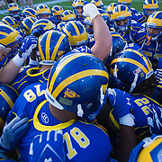 Delaware prepare to take the field for a week two match up with West Chester...#8 Delaware defeated Westchester 31-10  in their home opener at Delaware Stadium Saturday Sept. 10, 2011 in Newark DE...Delaware will return home Sept. 17, 2011 for a showdown with interstate Rival Delaware State at 6:pm at Delaware Stadium. (Monsterphoto/Saquan Stimpson)