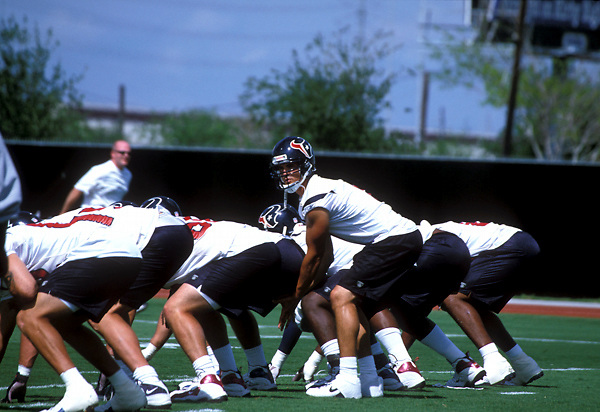 Stock photo of Houston Texans Practicing on the field