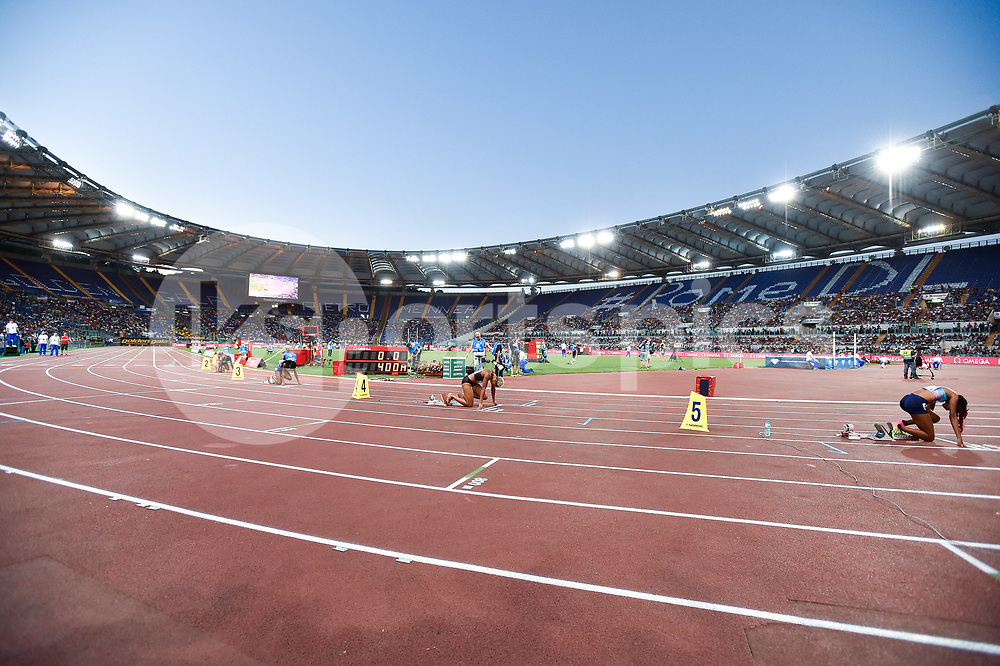 A view of Olympic Stadium during the IAAF Diamond League Golden Gala Pietro Mennea at Stadio Olimpico, Rome, Italy on 8 June 2017. Photo by Giuseppe Maffia.