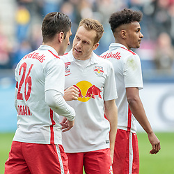 10.04.2016, Red Bull Arena, Salzburg, AUT, 1. FBL, FC Red Bull Salzburg vs FC Admira Wacker Mödling, 30. Runde, im Bild Jonatan Soriano Casas (Red Bull Salzburg), Christian Schwegler (Red Bull Salzburg), Valentino Lazaro (Red Bull Salzburg) // during Austrian Football Bundesliga 30th round Match between FC Red Bull Salzburg and FC Admira Wacker Moedling at the Red Bull Arena, Salzburg, Austria on 2016/04/10. EXPA Pictures © 2016, PhotoCredit: EXPA/ JFK