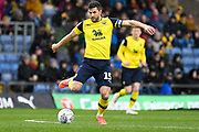 Oxford United defender John Mousinho (15) looks to release the ball during the EFL Sky Bet League 1 match between Oxford United and Sunderland at the Kassam Stadium, Oxford, England on 15 February 2020.
