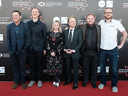 Edinburgh International Film Festival, Saturday 24th June 2017<br /> <br /> KALEIDESCOPE UK PREMIERE<br /> <br /> Rupert Jones, Sinead Matthews,Toby Jones, Mike Prestwood-Smith (sound engineer) and Tommy Boulding (editor)<br /> <br /> (c) Alex Todd | Edinburgh Elite media