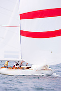International Class (IOD) sailing in Nantucket.
