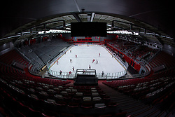 View on arena during hockey match between Team Jesenice and Gardena in third match of quarter final in Inter-National League 2013/2014, on March 8, 2014 in Vitranc, Kranjska Gora, Slovenia. Photo by Matic Klansek Velej / Sportida