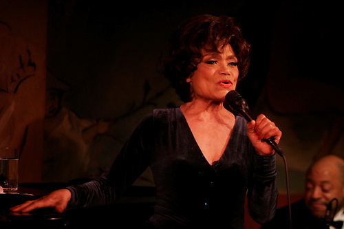 Eartha Kitt performing with members of her band at Cafe Carlyle on June 16, 2006..Photo Credit; Rahav Segev/ Photopass.com.All rights reserved. Email ; Rahav@photopass.com.917 586 6993