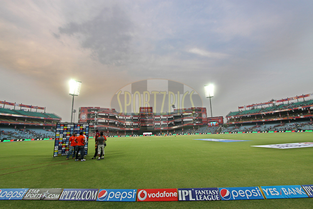 A General view of Feroze shah kotla stadium during match 23 of the Pepsi Indian Premier League Season 2014 between the Delhi Daredevils and the Rajasthan Royals held at the Feroze Shah Kotla cricket stadium, Delhi, India on the 3rd May  2014<br /> <br /> Photo by Deepak Malik / IPL / SPORTZPICS<br /> <br /> <br /> <br /> Image use subject to terms and conditions which can be found here:  http://sportzpics.photoshelter.com/gallery/Pepsi-IPL-Image-terms-and-conditions/G00004VW1IVJ.gB0/C0000TScjhBM6ikg
