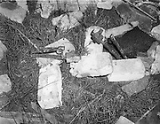 Explosion at Border Cottages - Louth/Armagh. Part of the IRAs Border Campaign..11/11/1957