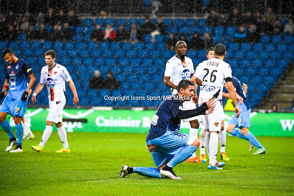 Deception Mickael LE BIHAN  - 12.12.2014 - Le Havre / Laval - 17eme journee de Ligue 2 <br /> Photo : Fred Porcu / Icon Sport