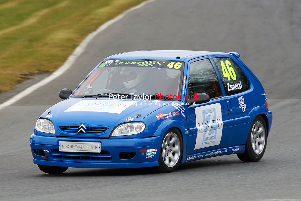 #46 Matteo ZANETTI Citroen Saxo VTR 1600 during Junior Saloon Car Championship as part of the BARC NW - Championship Raceday  at Oulton Park, Little Budworth, Cheshire, United Kingdom. March 19 2016. World Copyright Peter Taylor/PSP. Copy of publication required for printed pictures.  Every used picture is fee-liable. http://archive.petertaylor-photographic.co.uk
