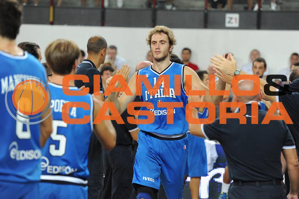 DESCRIZIONE : Rimini Trofeo Tassoni Italia Bosnia Italy Bosnia<br /> GIOCATORE : Andrea Renzi<br /> CATEGORIA : Ritratto<br /> SQUADRA : Nazionale Italia Uomini <br /> EVENTO : Trofeo Tassoni<br /> GARA : Italia Bosnia<br /> DATA : 12/08/2011<br /> SPORT : Pallacanestro<br /> AUTORE : Agenzia Ciamillo-Castoria/GiulioCiamillo<br /> Galleria : Fip Nazionali 2011 <br /> Fotonotizia : Rimini Trofeo Tassoni Italia Bosnia Italy Bosnia<br /> Predefinita :