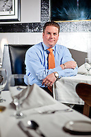 Chef and restaurant owner Paul Manno in his restaurant Paul Manno's Cafe in Chesterfield, MO.
