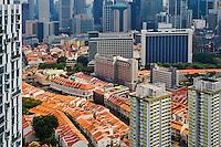 Singapour, Chinatown, vue generale // Singapore, Chinatown, cityscape