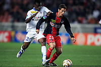 Fotball<br /> Frankrike<br /> Foto: Dppi/Digitalsport<br /> NORWAY ONLY<br /> <br /> FOOTBALL - FRENCH LEAGUE CUP 2007/2008 - 1/8TH FINAL - PARIS SG v MONTPELLIER - 31/10/2007 - JEREMY CLEMENT (PSG) / EGUTU OLISEH (MON)