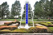 Nederland, Nieuwerkerk aan den IJssel, 28-5-2017Het laagste punt van het land in de Zuidplaspolder. 6,74 meter onder zeeniveau . In 1996 is hier een monument geplaatst om deze plek te markeren. Foto: Flip Franssen