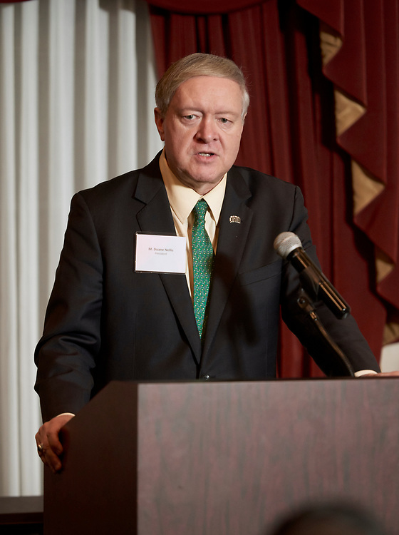 President Nellis introduces the Konneker awards importance.