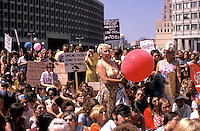 Women's liberation march and rally in Boston in the  early seventies.