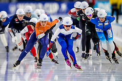 10-11-2017 NED: ISU World Cup, Heerenveen<br /> Massa start, Irene  Schouten NED