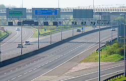 ©Licensed to London News Pictures 10/04/2020  <br /> Dartford, UK. An empty Good Friday M25 motorway in Dartford, Kent today due to the Coronavirus lockdown. Photo credit:Grant Falvey/LNP