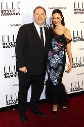 © Licensed to London News Pictures. 18/02/2014, UK. Harvey Weinstein; Georgina Chapman, ELLE Style Awards, One Embankment, London UK, 18 February 2014. Photo credit : Richard Goldschmidt/Piqtured/LNP