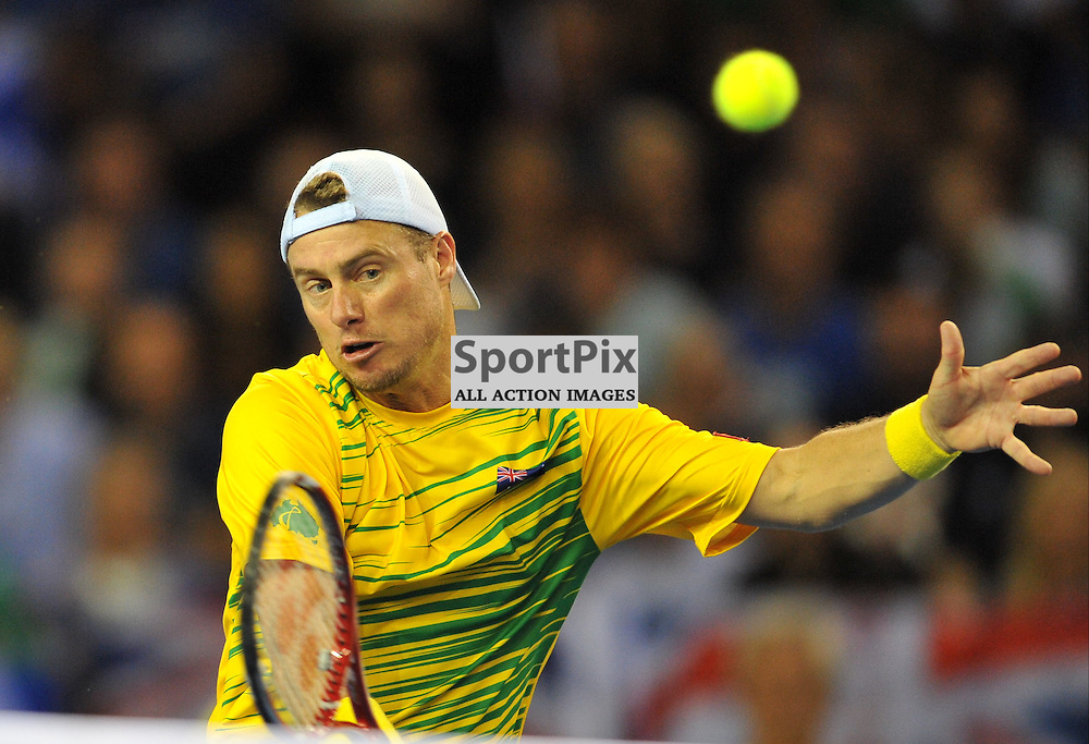 Lleyton Hewitt in action during the doubles rubber between Great Britain v Australia, Semi Finals,  Aegeon Davis Cup by BNP Paribas, Saturday 19 September 2015 (c) Angie Isac | SportPix.org.uk