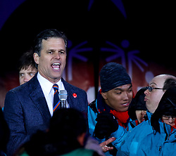 18.03.2017, Planai-Stadion, Schladming, AUT, Special Olympics 2017, Wintergames, Eröffnungsfeier, im Bild Timothy Shriver, Chairman Special Olympics International, auf der Bühne // Timothy Shriver, Chairman Special Olympics International, on stage during the opening ceremony in the Planai Stadium at the Special Olympics World Winter Games Austria 2017 in Schladming, Austria on 2017/03/17. EXPA Pictures © 2017, PhotoCredit: EXPA / Martin Huber