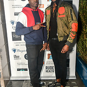 D-Jukes ,Stefan-Pierre Tomlin Arrivers at Nina Naustdal catwalk show SS19/20 collection by The London School of Beauty & Make-up at Bagatelle on 26 Feb 2019, London, UK.