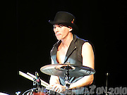 Brian Viglione preforms as part of The Dresden Dolls 10th Bandiversary Show on Halloween Night 2010 in New York City.