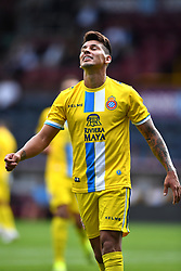 "Espanyol's Hernan Perez reacts during the pre-season friendly match at Turf Moor, Burnley. PRESS ASSOCIATION Photo. Picture date: Sunday August 5, 2018. See PA story SOCCER Burnley. Photo credit should read: Anthony Devlin/PA Wire. RESTRICTIONS: EDITORIAL USE ONLY No use with unauthorised audio, video, data, fixture lists, club/league logos or ""live"" services. Online in-match use limited to 75 images, no video emulation. No use in betting, games or single club/league/player publications."