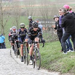 25-02-2017: Wielrennen: Omloop Het Nieuwsblad: Gent  <br />GENT (BEL) wielrennen  <br />On the Paterberg, Jolien D'Hoore, Annemiek van Vleuten, Lucinda Brand
