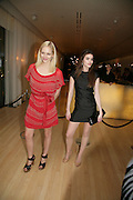 Annabel Horsey and Claudia Cooper, An Evening At Sanderson,  Sanderson Hotel, 50 Berners Street, London, W1, Charity reception now in its seventh year raising money for CLIC Sargent.15 May 2007. -DO NOT ARCHIVE-© Copyright Photograph by Dafydd Jones. 248 Clapham Rd. London SW9 0PZ. Tel 0207 820 0771. www.dafjones.com.