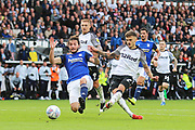 Derby County forward Jamie Paterson (7) scores a goal 3-2 during the EFL Sky Bet Championship match between Derby County and Birmingham City at the Pride Park, Derby, England on 28 September 2019.