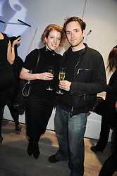 JULIA JOHNSON sister of Boris Johnson and MARK MACLAINE at a party hosted by Kate Sumner at Zadig & Voltaire to celebrate the brand's arrival in London at 182 Westbourne Grove, London W11 on 14th October 2008.