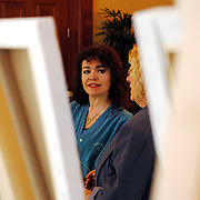 NLD/Amsterdam/20060209 - Bekende Nederlanders schilderen voor de Stichting Lezen en Schrijven, Rosita Steenbeek