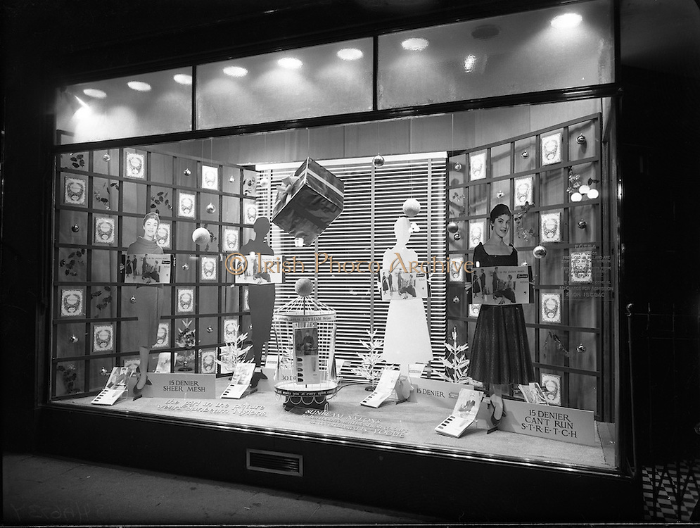 20/12/1956<br /> 12/20/1956<br /> 20 December 1956<br /> <br /> Modern Display Artists Special - Sunbeam Nylons Window on Stephen's Green