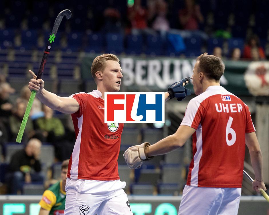 BERLIN - Indoor Hockey World Cup<br /> Men: Austria - South Africa<br /> foto: Michael K&ouml;rper.<br /> WORLDSPORTPICS COPYRIGHT FRANK UIJLENBROEK