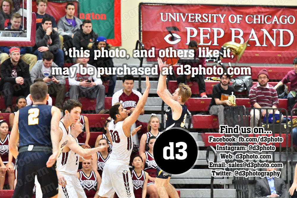February 12,2017 - Chicago, IL,US - UAA:  Chicago vs Emory  at Gerald Ratner Athletics Center in Chicago IL. <br /> University of Chicago (Maroons) hosted Emory (Eagles) in UAA conference game..<br /> (Credit: Credit: Dean Reid).
