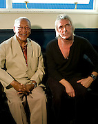 Ernest Ranglin with Paul Weller backstage Island 50